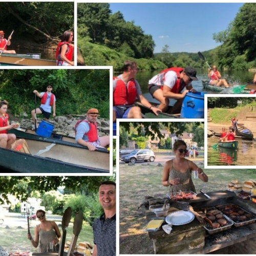 Team building and relaxing on the River Wye